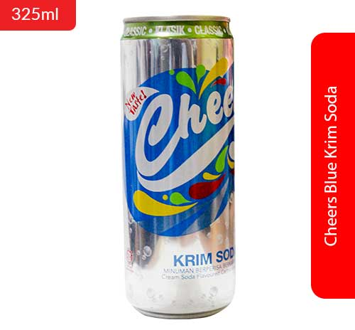 Cheers Blue Krim Soda 325ml